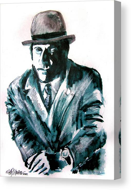 Ron Moody Canvas Print featuring the drawing A Dapper Brit-portrait Of Ron Moody by Seth Weaver