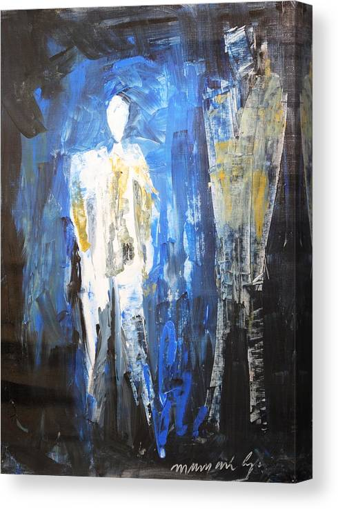 Conversations Canvas Print featuring the painting Conversations by Mayank Gupta