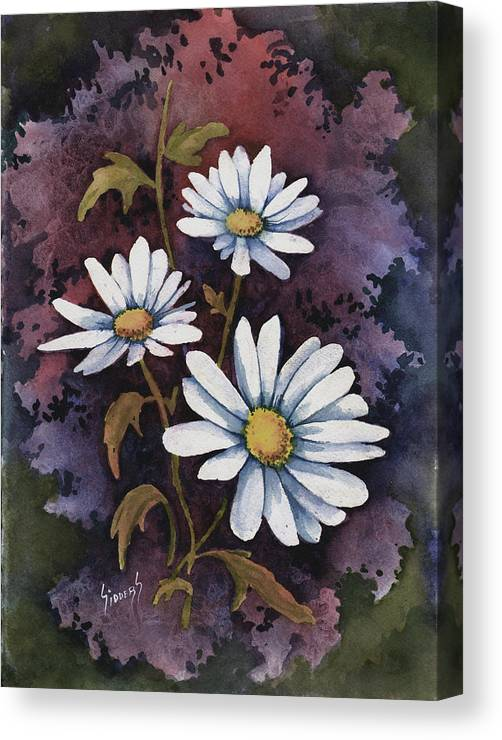 Flowers Canvas Print featuring the painting Daisies IIi by Sam Sidders