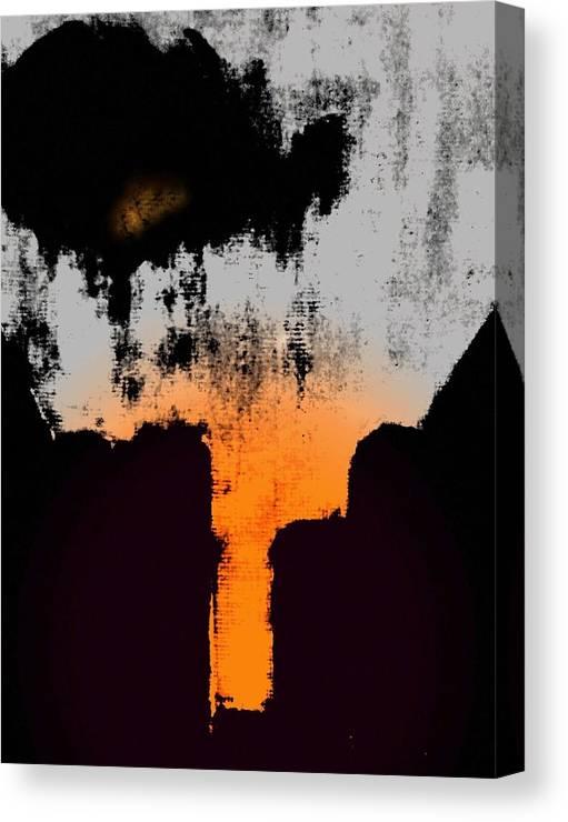 Abstract Canvas Print featuring the digital art Echo by Joseph Ferguson