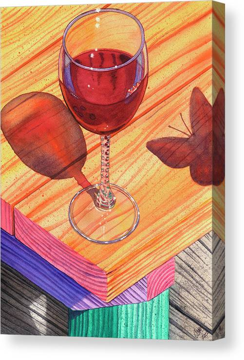 Wine Canvas Print featuring the painting Pinot Noir by Catherine G McElroy