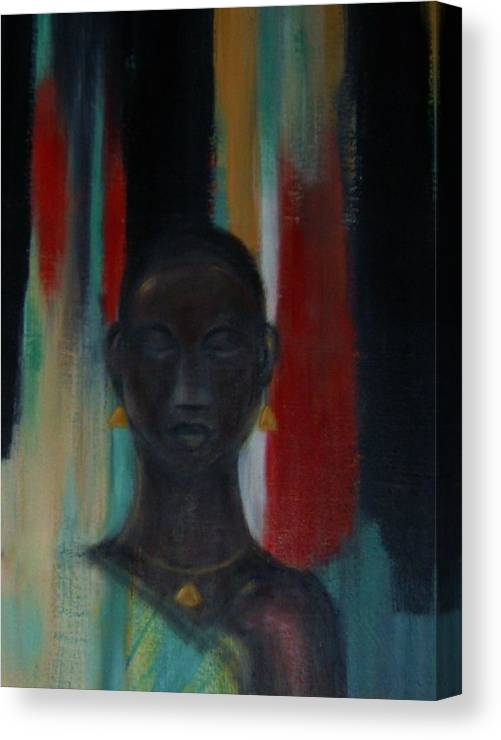 Figure Canvas Print featuring the mixed media Young woman by Joseph Ferguson