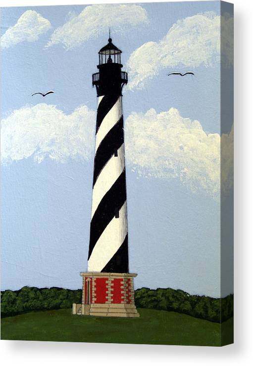 Lighthouse Paintings Canvas Print featuring the painting Cape Hatteras Lighthouse by Frederic Kohli