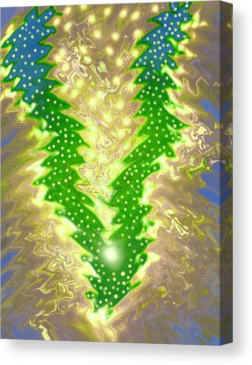 Moveonart! Digital Gallery Canvas Print featuring the digital art MoveOnArt Christmas 2009 Collection Victory Tree by Jacob Kanduch