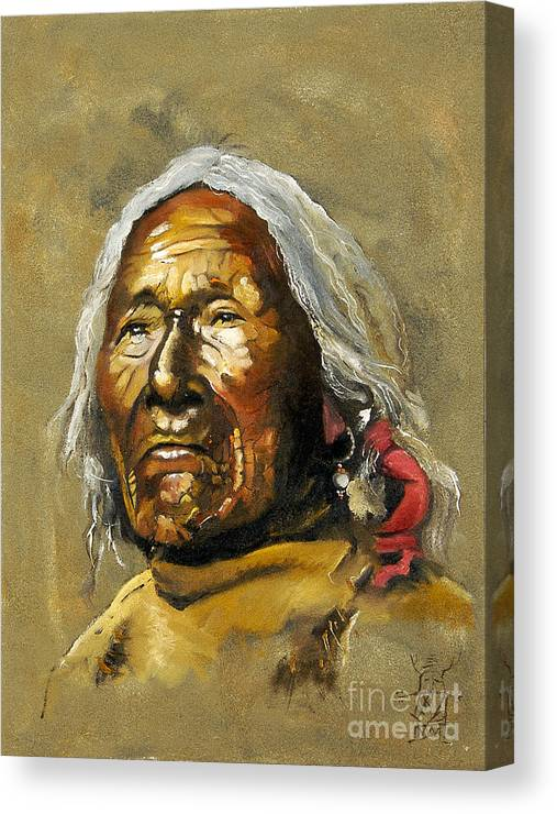 Southwest Art Canvas Print featuring the painting Painted sands of time by J W Baker