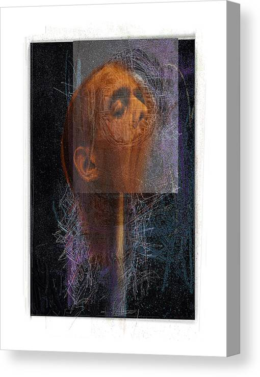 Portrait Canvas Print featuring the digital art Popper by Nuff