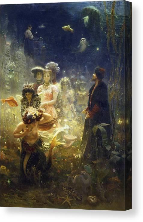 Ilya Repin Canvas Print featuring the painting Sadko by Ilya Repin