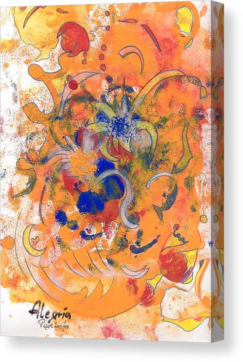 Alegria Canvas Print featuring the mixed media Alegria by Michael Puya