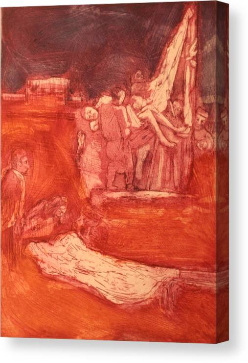 Religious Canvas Print featuring the painting Apres rembrandt by Biagio Civale