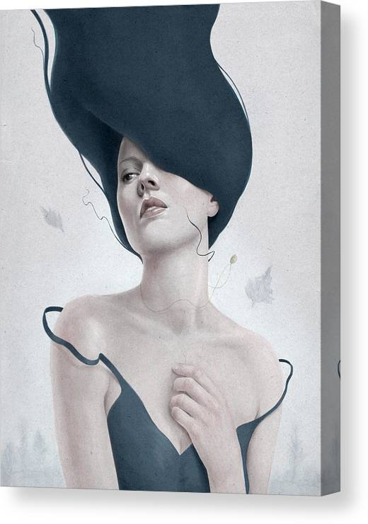 Woman Canvas Print featuring the digital art Ascension by Diego Fernandez