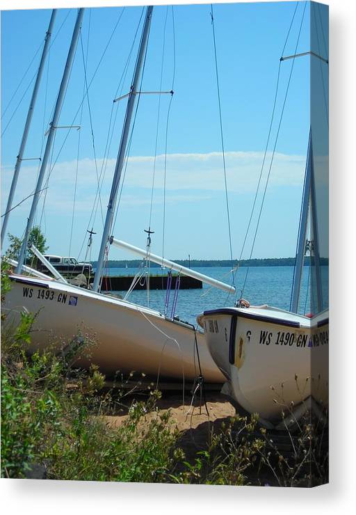 Boats Canvas Print featuring the photograph Beached by Peter Mowry