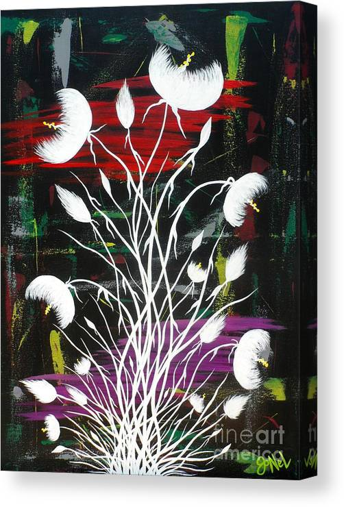 Flower Canvas Print featuring the painting Blooming Abstract by JoNeL Art