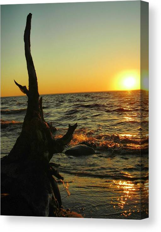 Sunset Canvas Print featuring the photograph Castle on the watch by Peter Mowry