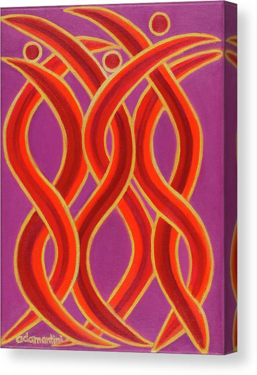Celestial Fire Canvas Print featuring the painting Celestial Fire by Adamantini Feng shui