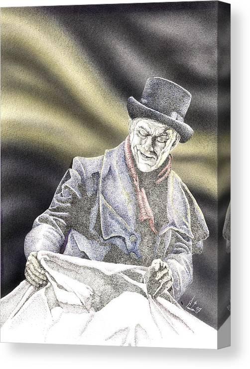 Boris Canvas Print featuring the mixed media Creepy Thoughts by Preston Shupp