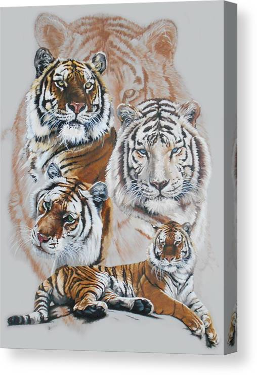 Big Cat Canvas Print featuring the mixed media Czar by Barbara Keith