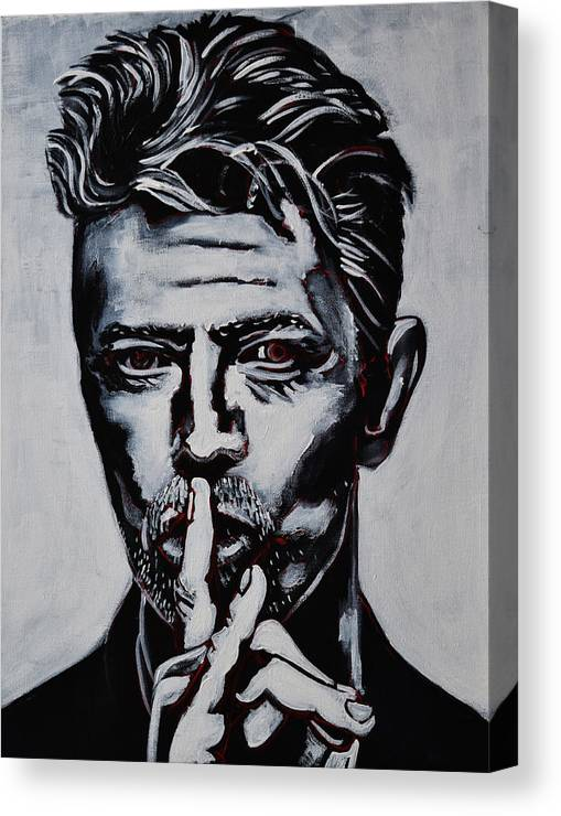 David Bowie Canvas Print featuring the painting David Bowie by Stephen Humphries