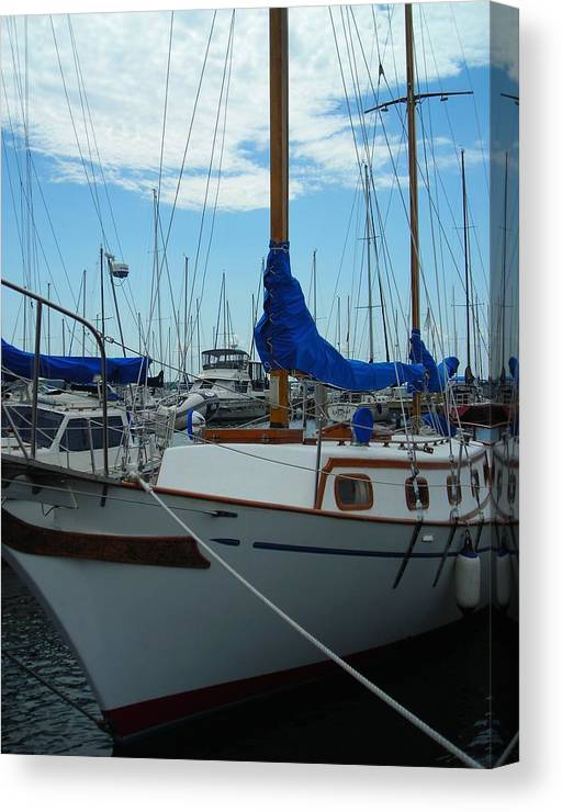 Boat Canvas Print featuring the photograph Docking Bay by Peter Mowry