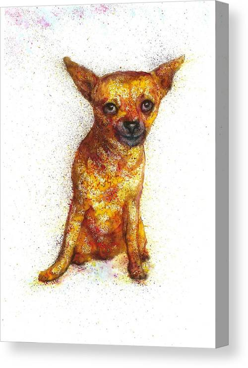 Dog Painting Canvas Print featuring the painting Dog painting by Natalja Picugina