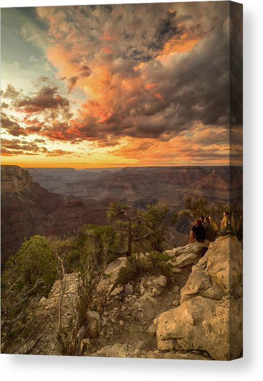 Sunsets Canvas Print featuring the photograph Golden Delight by Rob Wilson