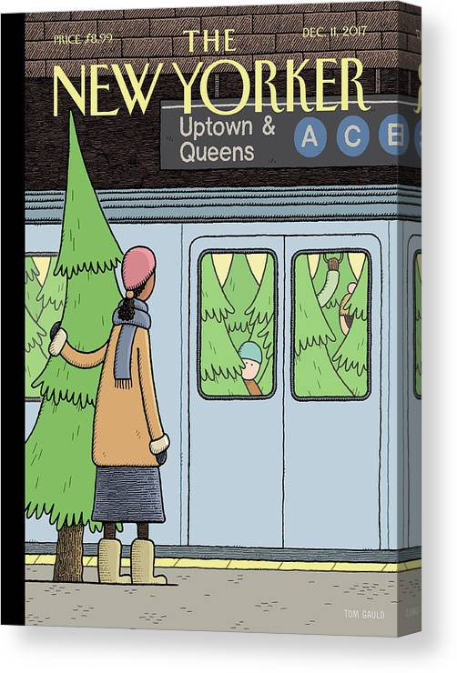 Holiday Track Canvas Print featuring the painting Holiday Track by Tom Gauld