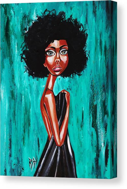 Afro Canvas Print featuring the photograph If From Past Sins Ive Been Washed Clean-why Do I Feel So Dirty by Artist RiA