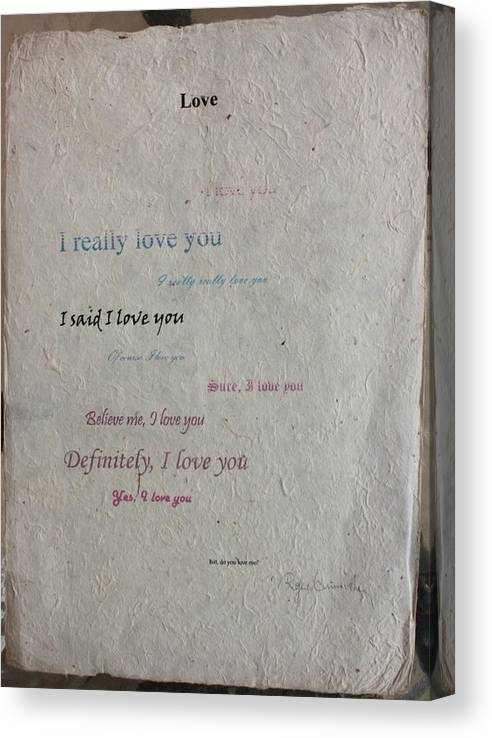 Love Canvas Print featuring the painting Is Love really in the Air? by Roger Cummiskey