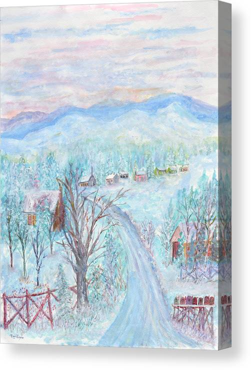 Winter Canvas Print featuring the painting Joy of Winter by Ben Kiger