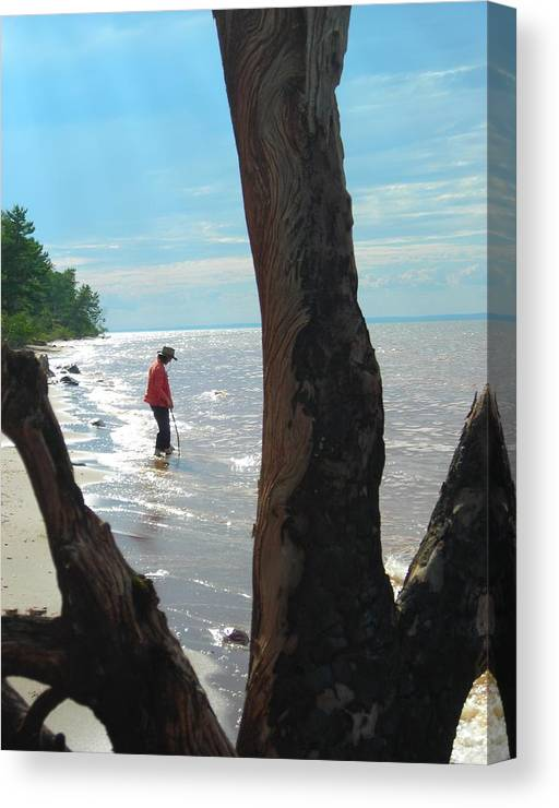 Beach Canvas Print featuring the photograph Lost Woman by Peter Mowry