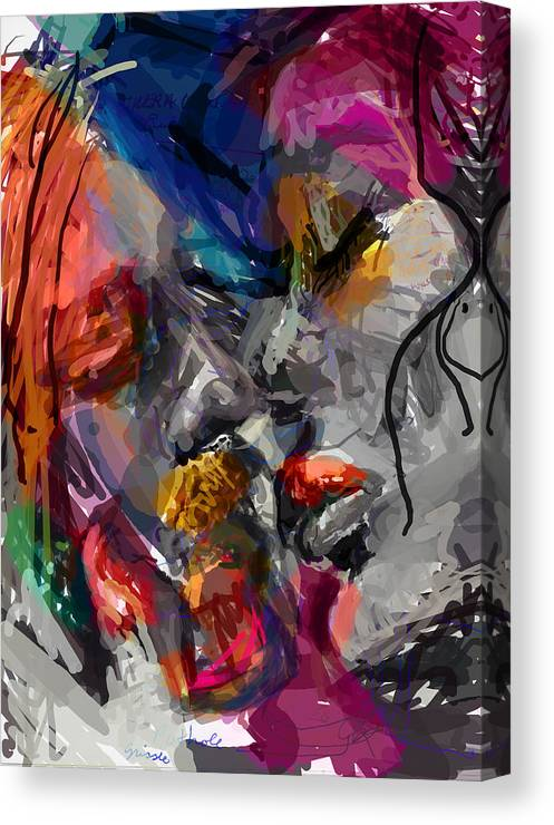 Man Canvas Print featuring the digital art Love Hate Being by James Thomas