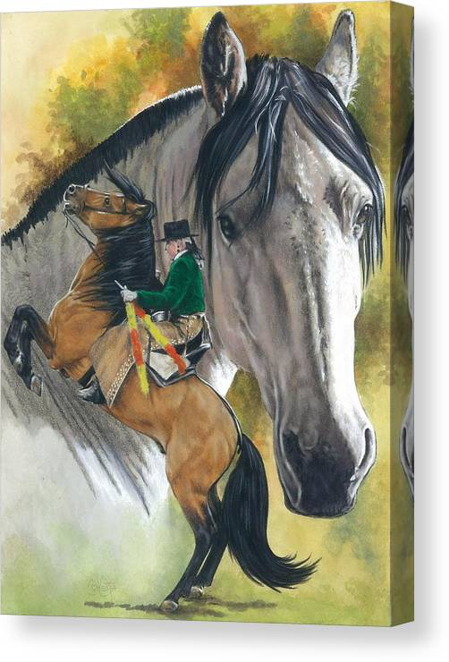 Hoof Stock Canvas Print featuring the mixed media Lusitano by Barbara Keith