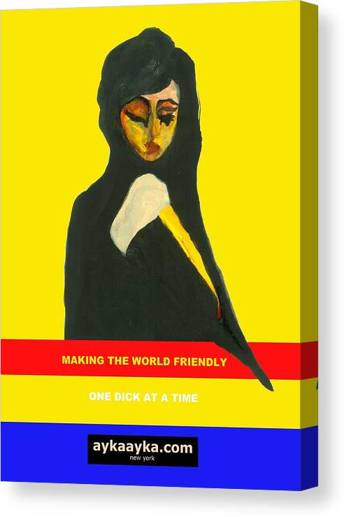Making Canvas Print featuring the painting Making The World Friendly by Ayka Yasis