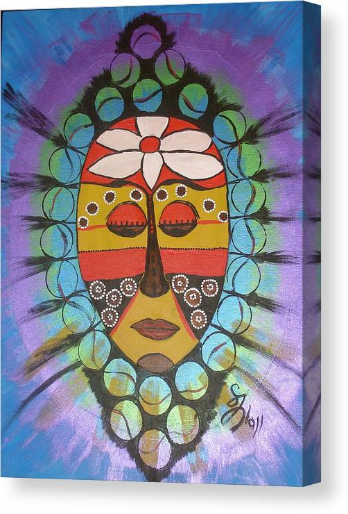 Mask Canvas Print featuring the painting Mask III by Sheila J Hall