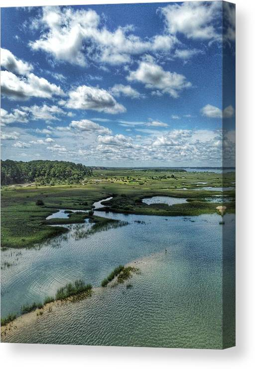 Florida Canvas Print featuring the digital art Matanzas Clouds by Scott Waters