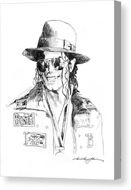 Michael Jackson Canvas Print featuring the drawing Michael's Jacket by David Lloyd Glover