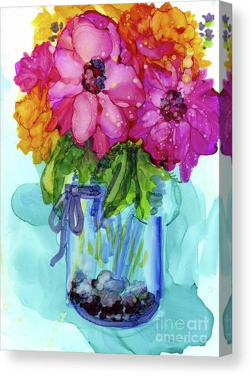 Flowers Canvas Print featuring the mixed media Mother's Bouquet by Francine Dufour Jones