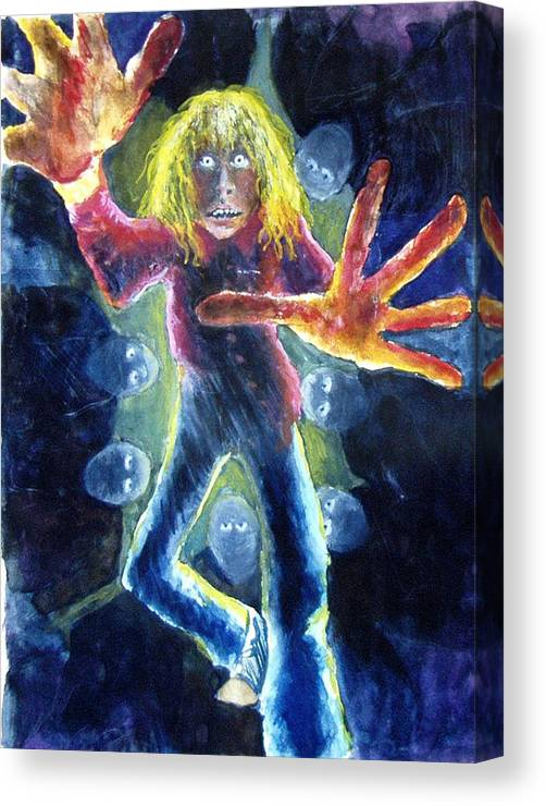 Nightmare Canvas Print featuring the painting Nightmare by Nancy Mueller