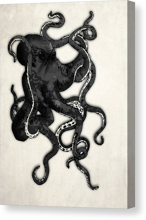 Sea Canvas Print featuring the digital art Octopus by Nicklas Gustafsson