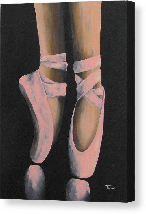 Ballerina Canvas Print featuring the painting On Point III by Torrie Smiley