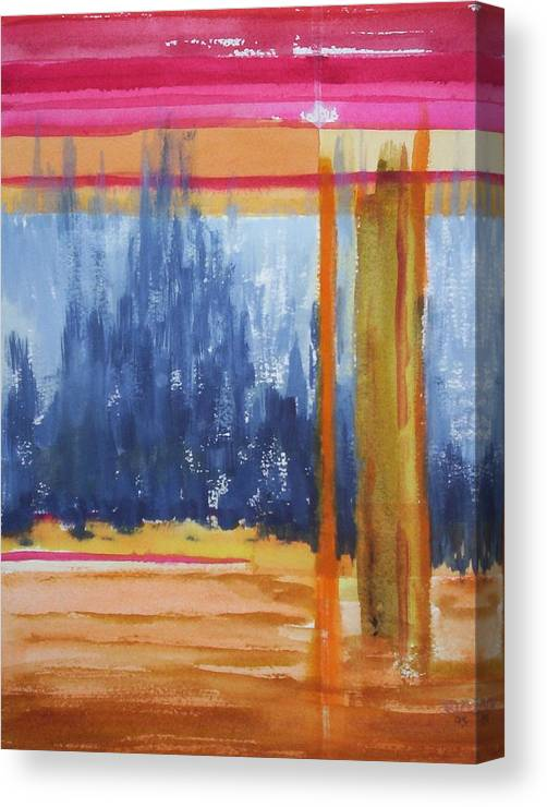 Landscape Canvas Print featuring the painting Opening by Suzanne Udell Levinger