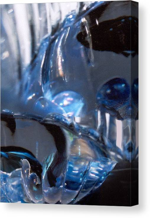 Glass Canvas Print featuring the photograph Panel 2 from Swirl by Steve Karol