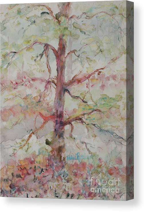 Forest Canvas Print featuring the painting Pastel Forest by Nadine Rippelmeyer