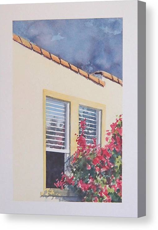 Cottage Canvas Print featuring the painting Pismo Cottage by Philip Fleischer