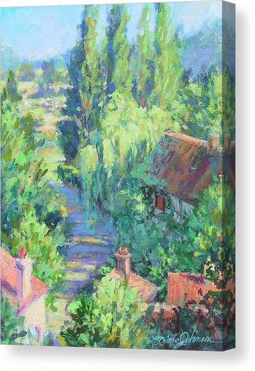 France Canvas Print featuring the painting Road to Giverny by L Diane Johnson
