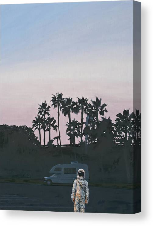 Astronaut Canvas Print featuring the painting RV Dusk by Scott Listfield