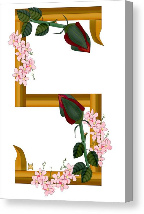 S Canvas Print featuring the painting S is for Strengths by Anne Norskog
