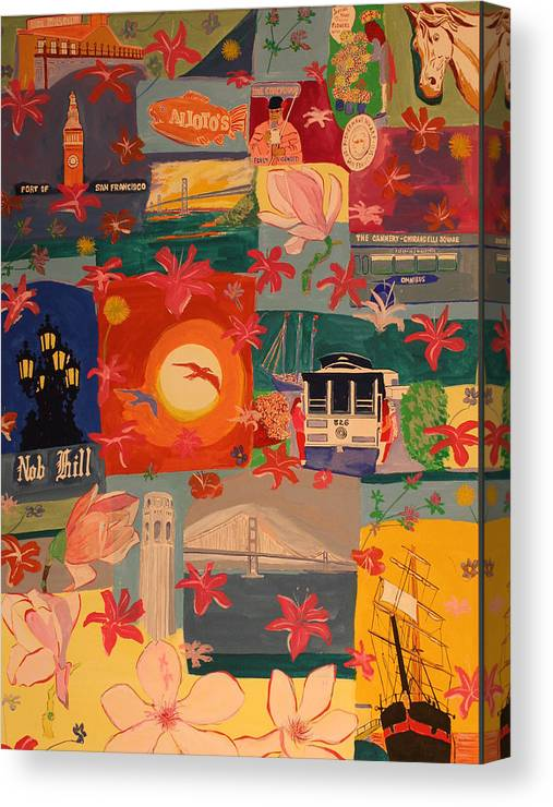 Canvas Print featuring the painting San Francisco by Biagio Civale