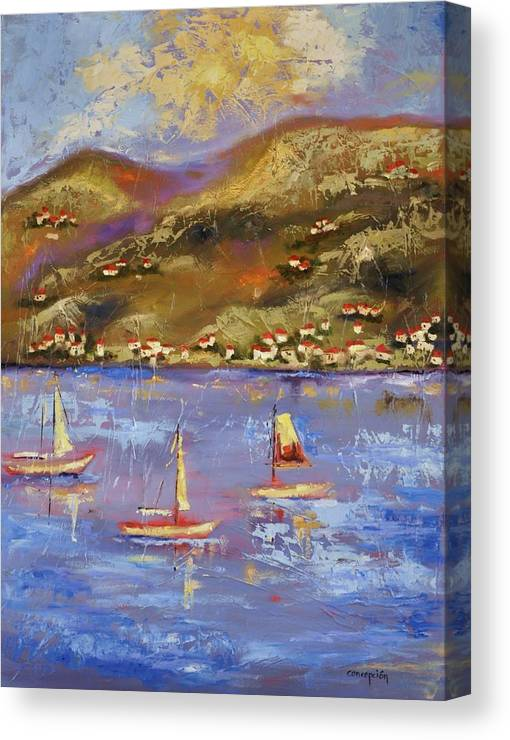 St. John Canvas Print featuring the painting St. John USVI by Ginger Concepcion