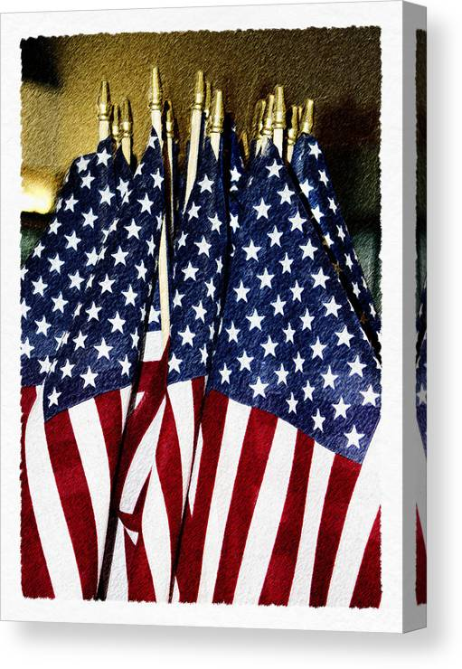 Flag Canvas Print featuring the digital art Stars And Stripes by Robert Sako