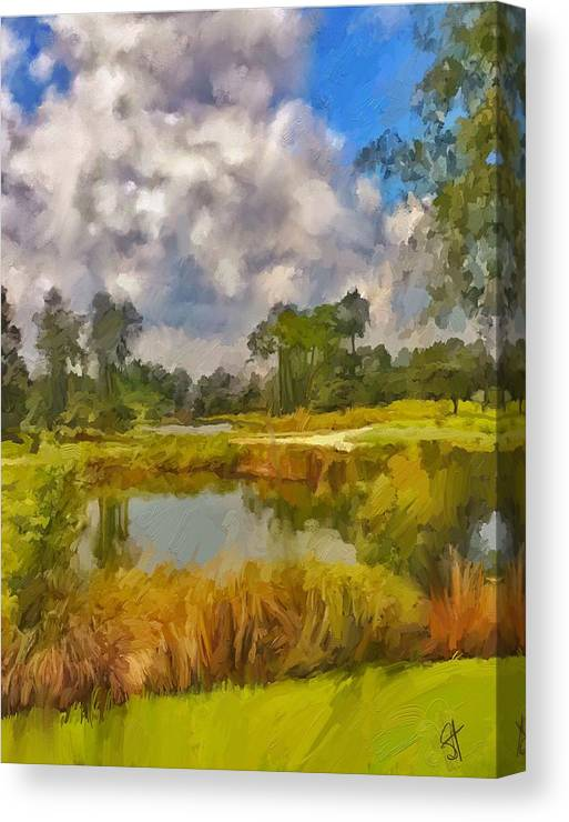 Florida Canvas Print featuring the digital art Storm to the West by Scott Waters
